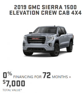 2019 GMC Sierra 1500 Elevation Crew Cab 4x4 Special Offers Ontario