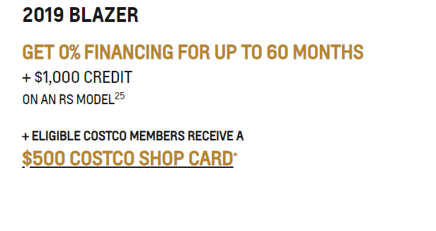 GET 0% FINANCING FOR UP TO 60 MONTHS + $1,000 CREDIT ON AN RS MODEL