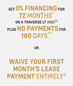 GET 0% FINANCING FOR 72 MONTHS