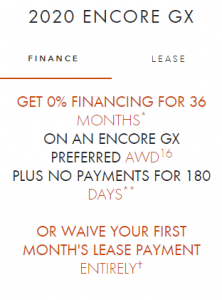 GET 0% FINANCING FOR 36